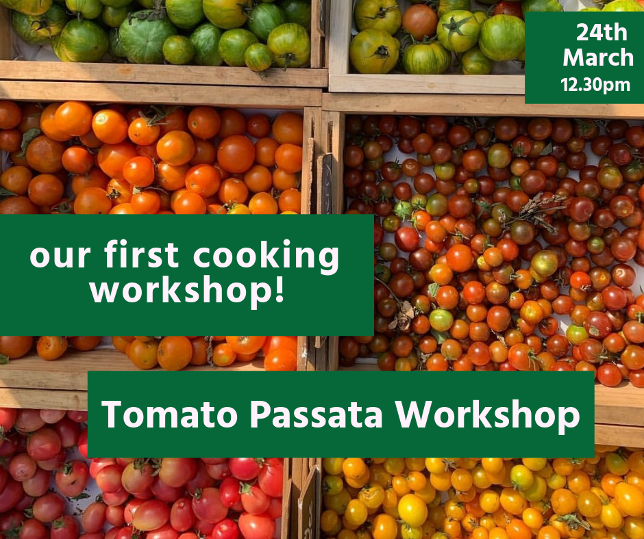 Melbourne Food Hub's first cooking workshop. Come and make tomato passata with us! 24th March 2018 12.30pm